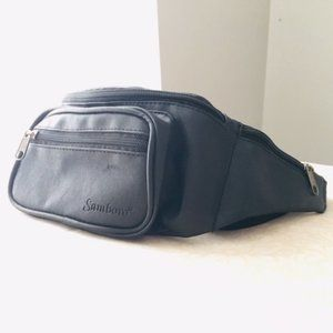 2/$15 Black fanny pack with lots of compartments!